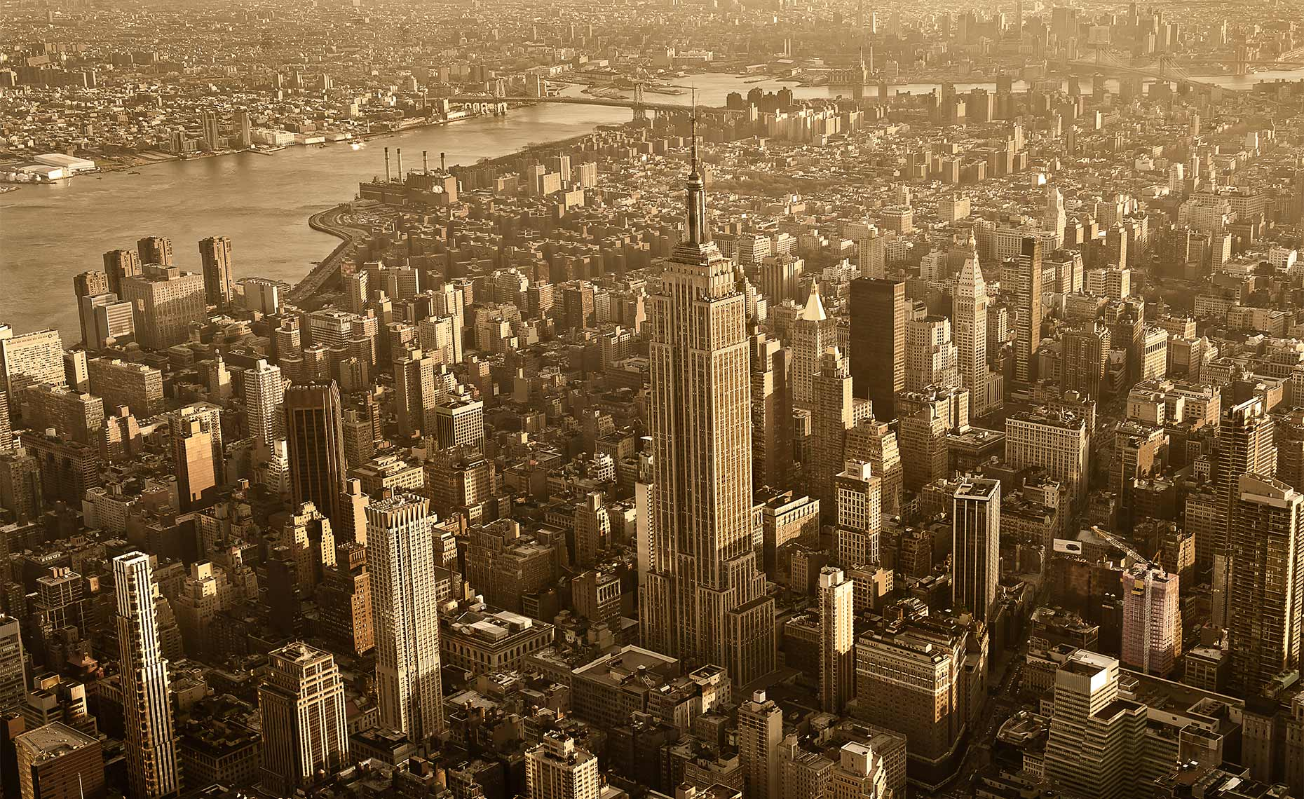 Aerial-Photo-of-Midtown-New-York-Postcard-Empire-State-Building