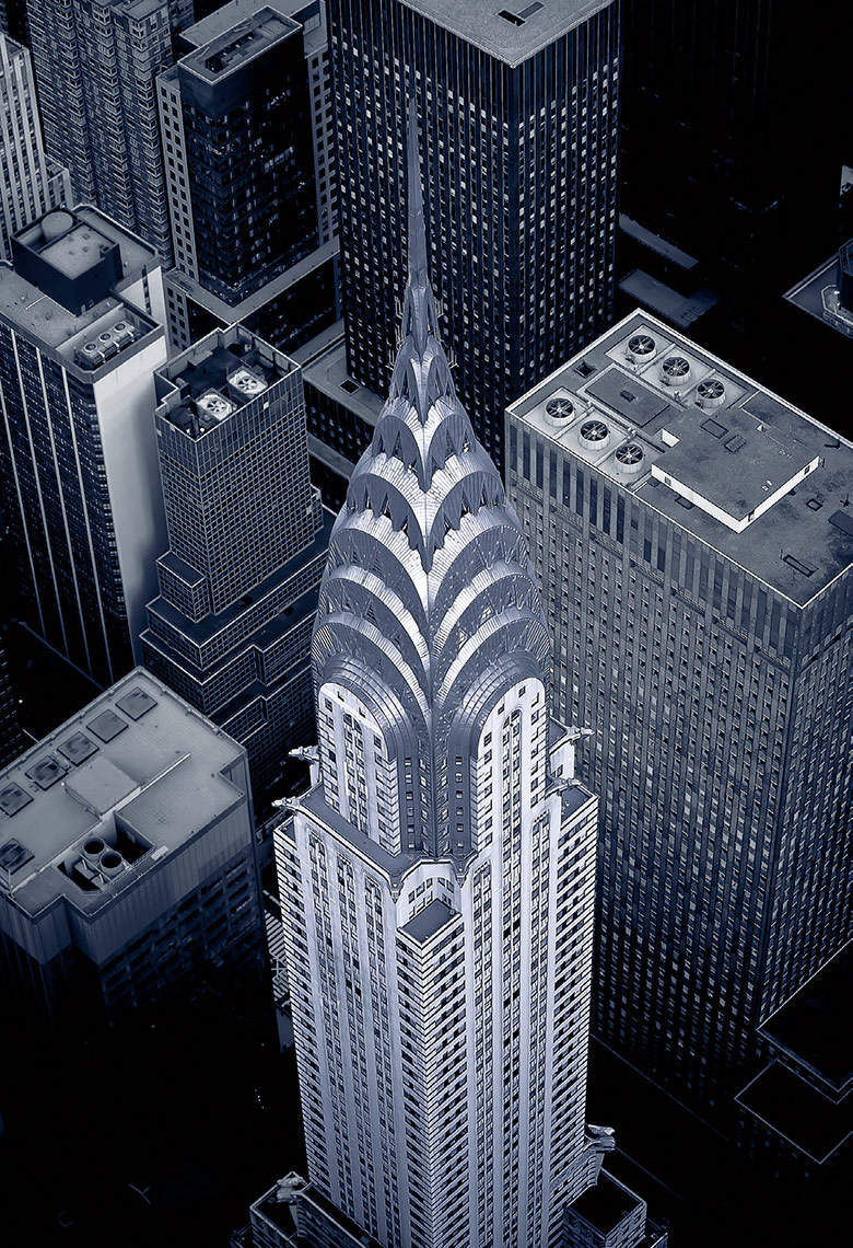 Aerial View Of The Chrysler Building, New York City