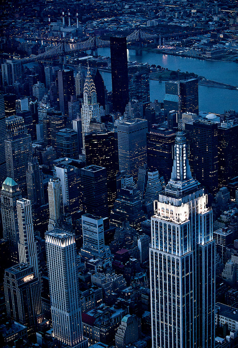 Midtown At Night Aerial Photo, New York City