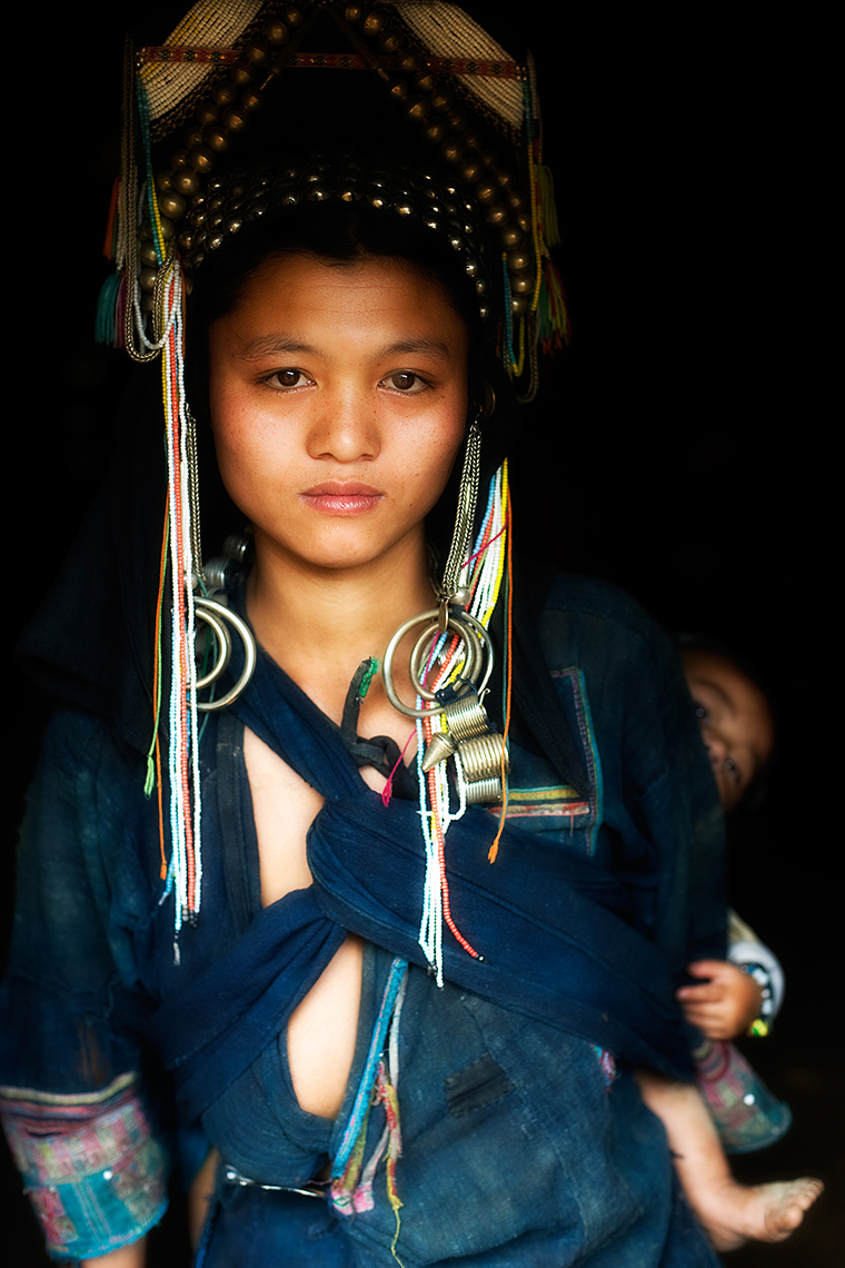 akha tribe woman, Phongsali, Laos. Photo © Konstantino Hatzisarros 2013