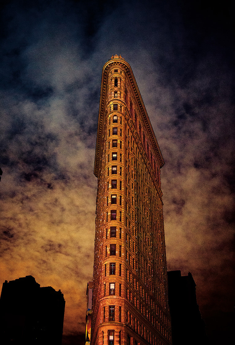 The Flatiron Building During Hurricane Sandy Blackout, New York City
