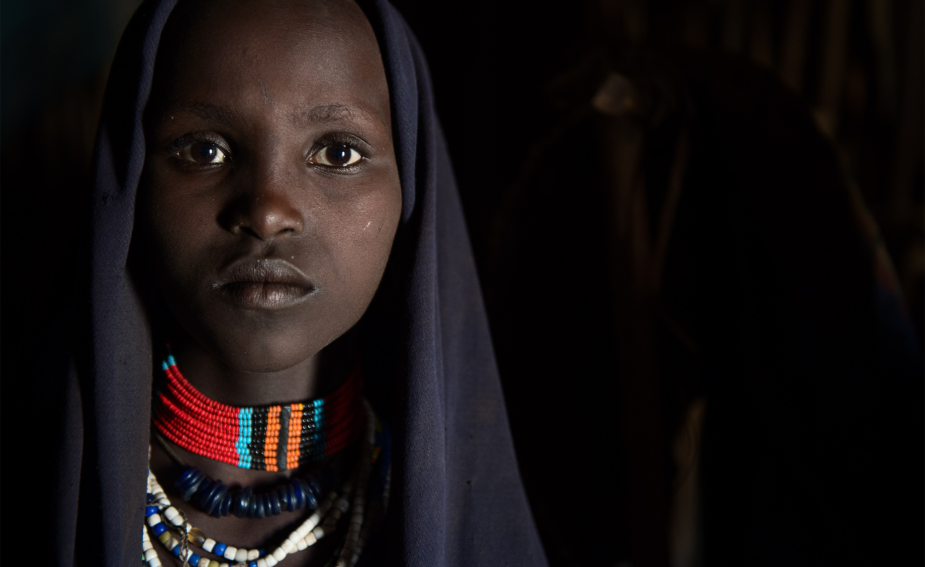 arbore tribe girl at godoroba, omo valley, ethiopia