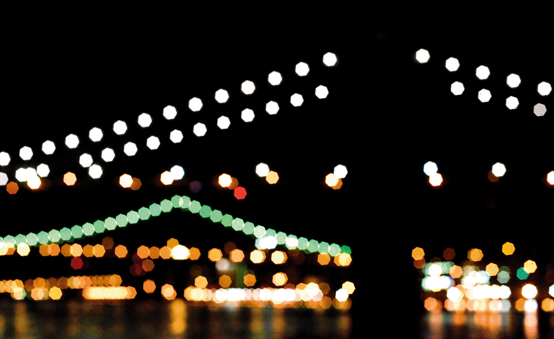 Brooklyn and Manhattan Bridge Lights NY Postcard