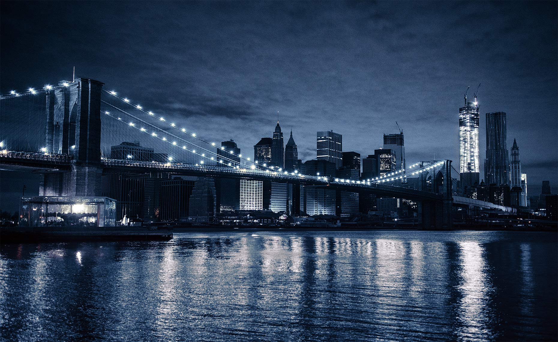 Brooklyn Bridge Hurricane Sandy Blackout, New York NY Postcard
