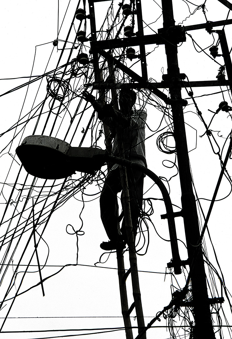 Electrical Company Worker, Calcutta, India