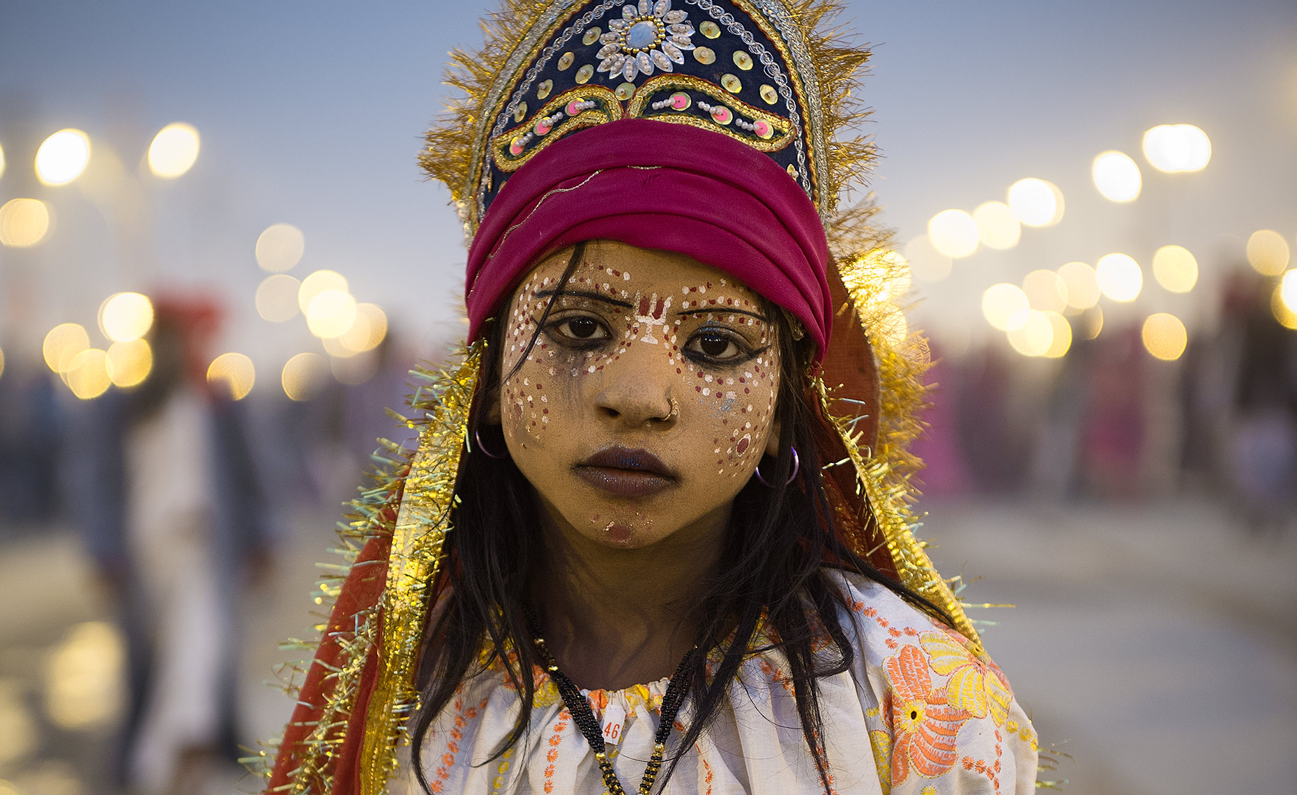 GIrl In Costume, Kumbh Mela, Allahadad, India
