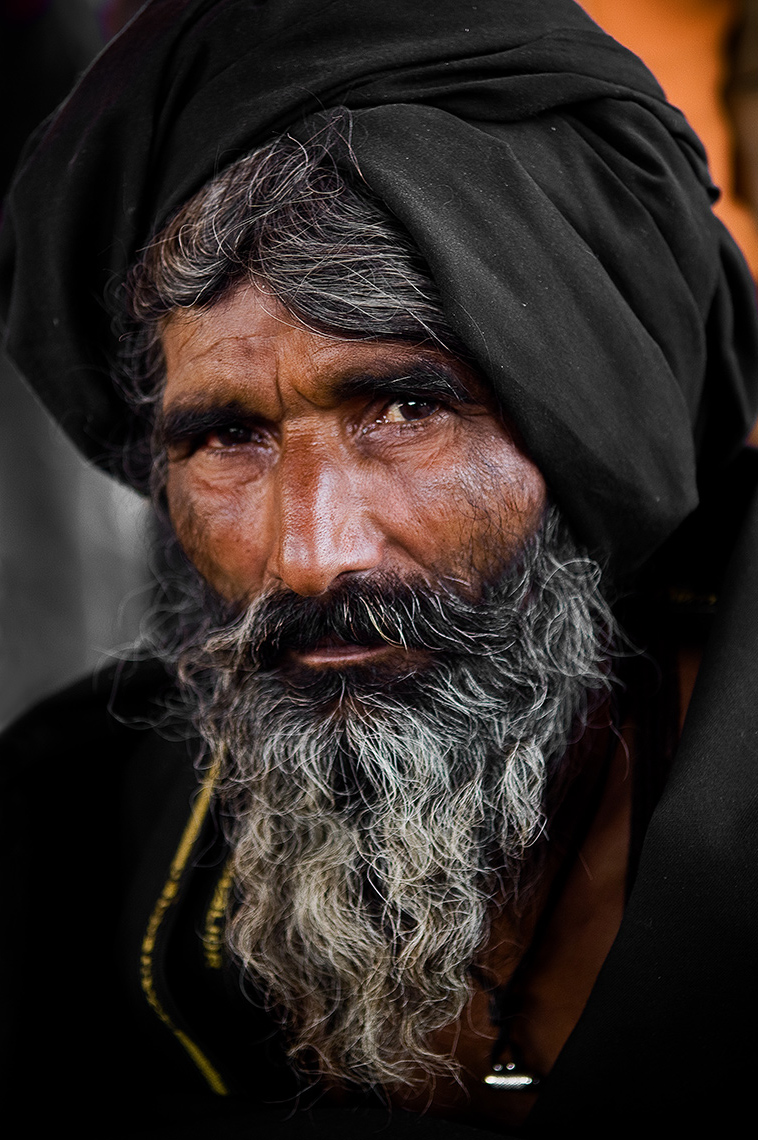 man with turban, Kumbh Mela, India