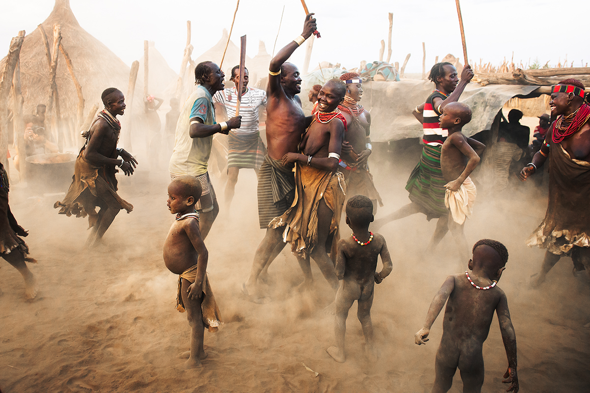 karo tribe dance party omo valley ethiopia