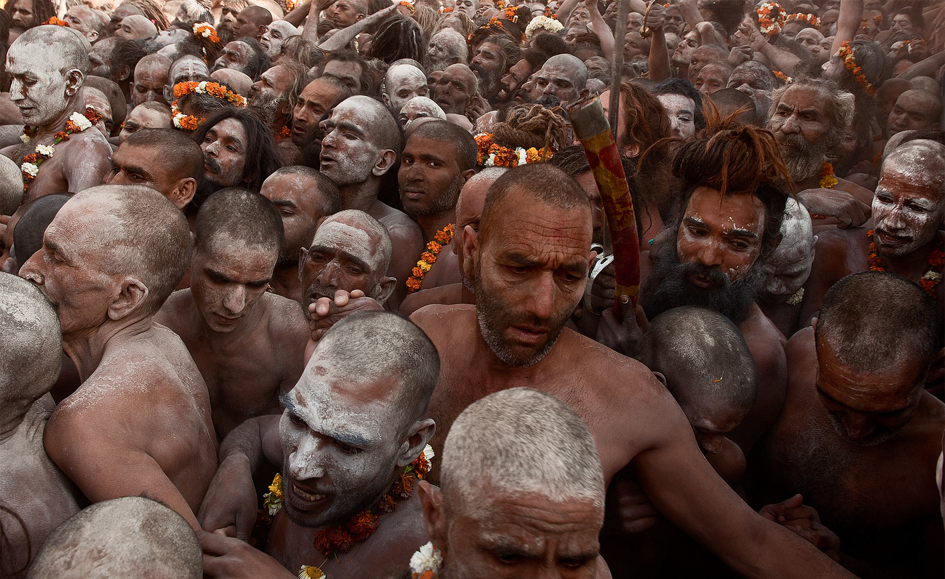 naked naga shadus at haridwar kumbh mela India