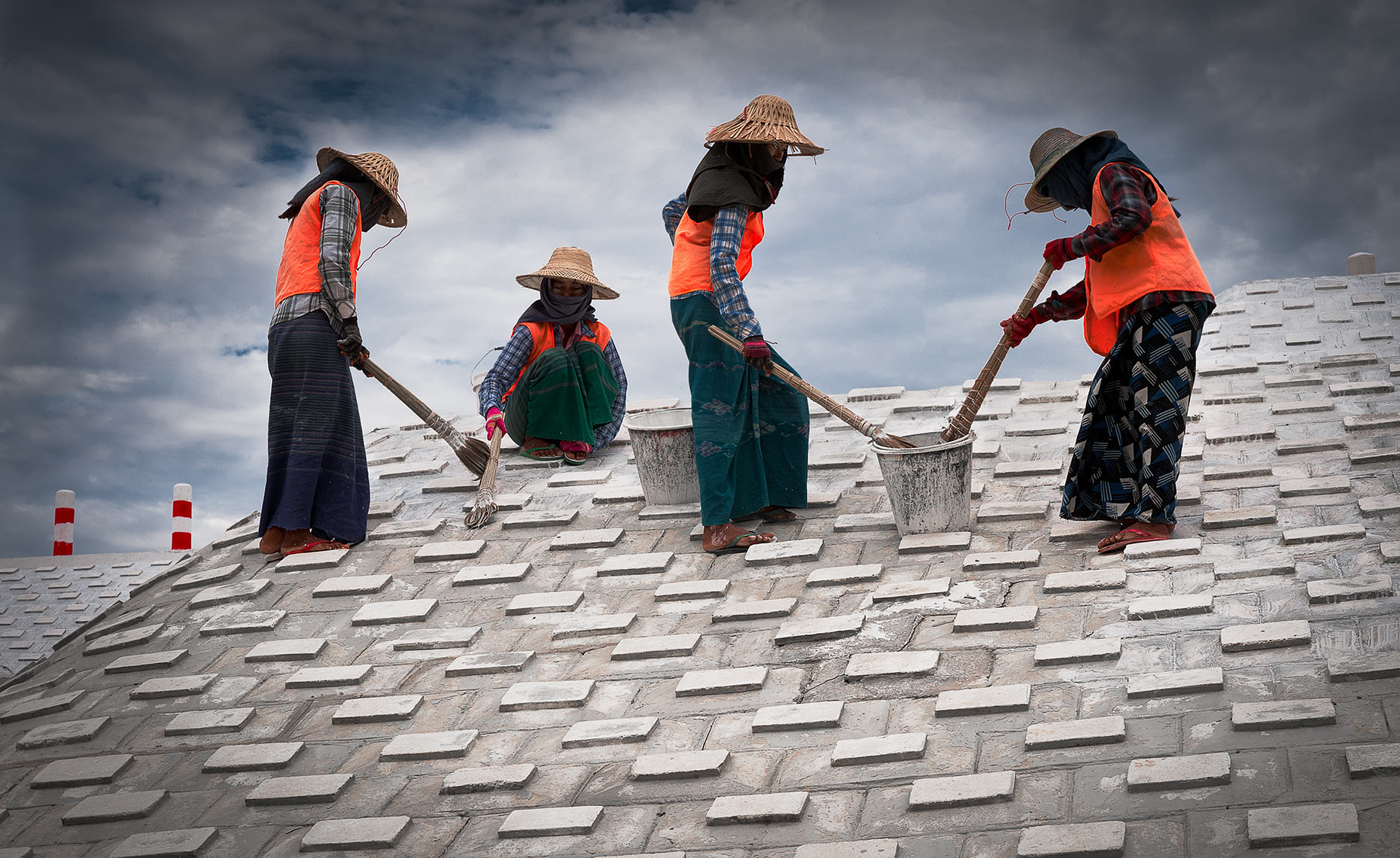 workers in Myanmar (Burma)