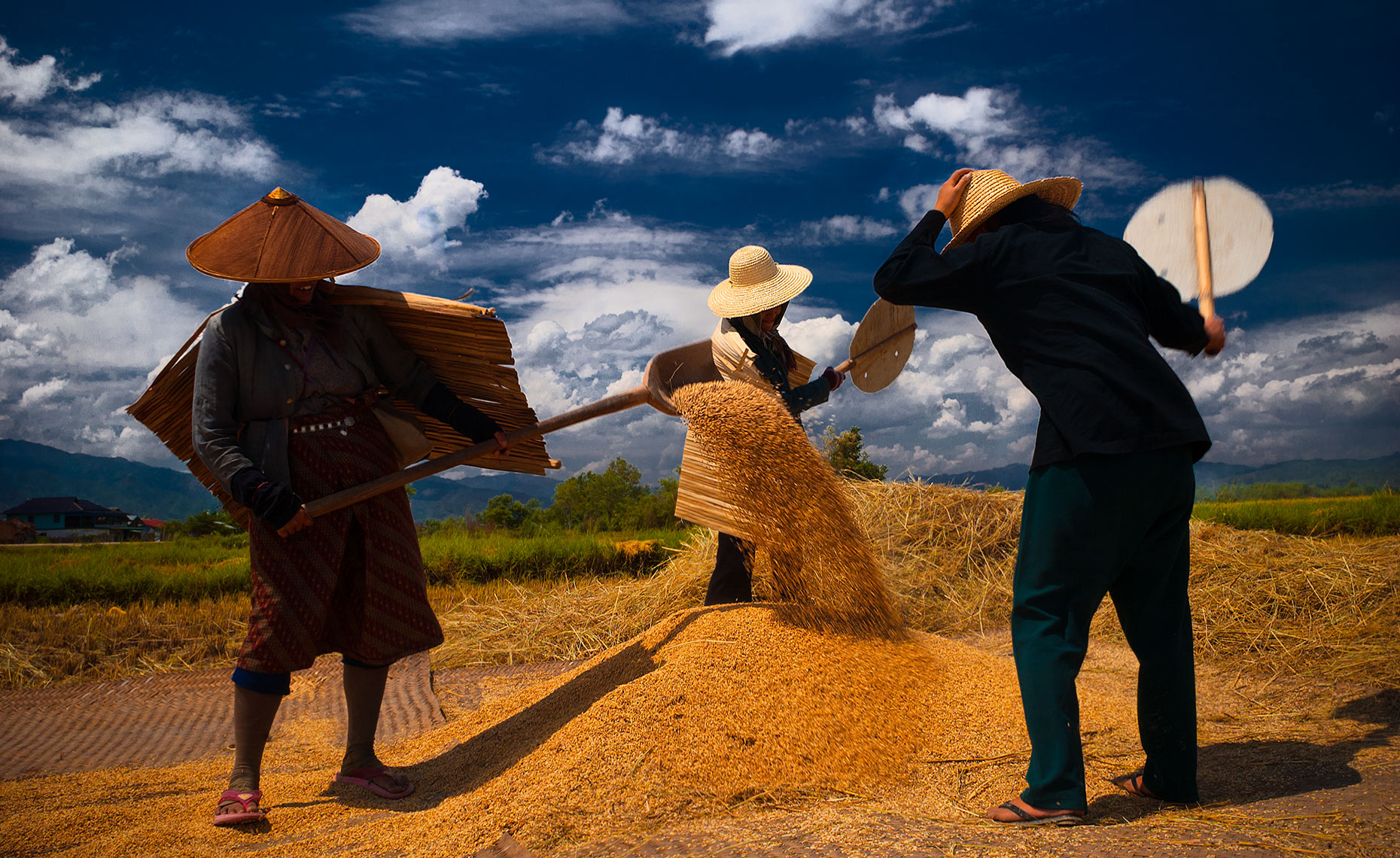 RIce Field Workers, Keng Tung, Burma