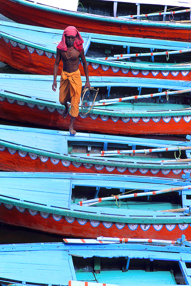 Boatman In Varanasi, India